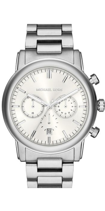 Michael Kors 'Pennant' Chronograph Bracelet Watch, 43mm Silver