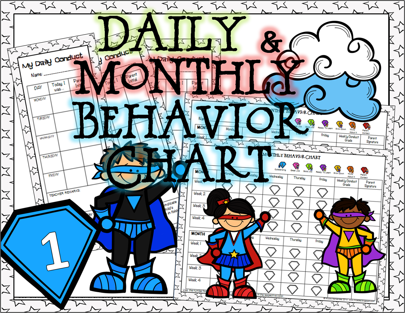 http://www.teacherspayteachers.com/Product/Daily-and-Monthly-Student-Behavior-Chart-1416614