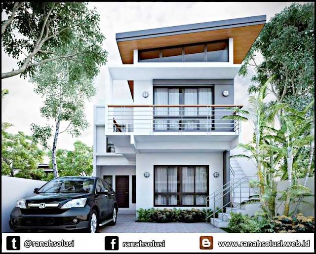 Model Desain Rumah Minimalis 2 Lantai Mewah