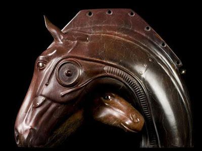 Escultura Steampunk  de caballo