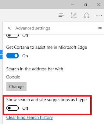 Cara Disable Search Suggestion di Chrome dan Edge