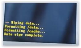 wiping data Lenovo A6010 PLUS