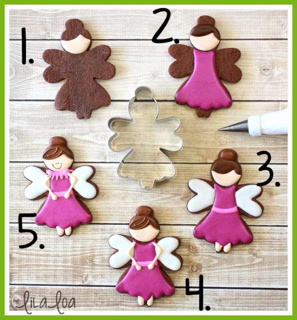 Sugar Plum Fairy Sugar Cookies -- a cookie decorating tutorial