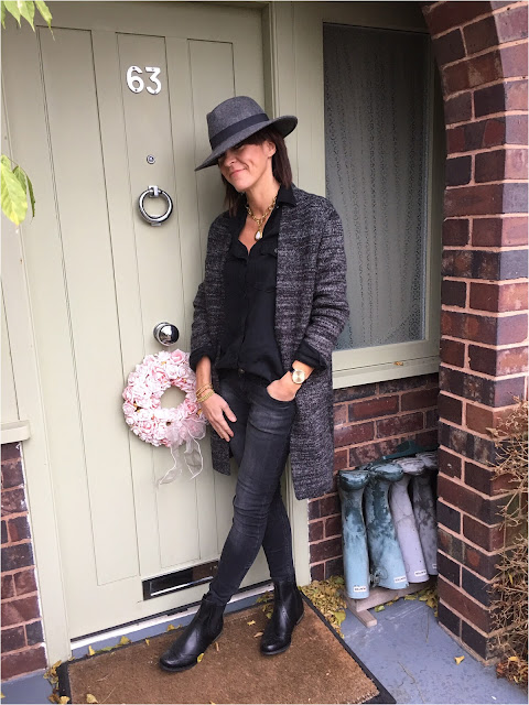 My Midlife Fashion, Costigan, Zara Oversized Cardigan, Jones Liverpool Ankle Boots