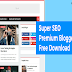 Super SEO Premium Blogger Template Free Download | No Footer Credit