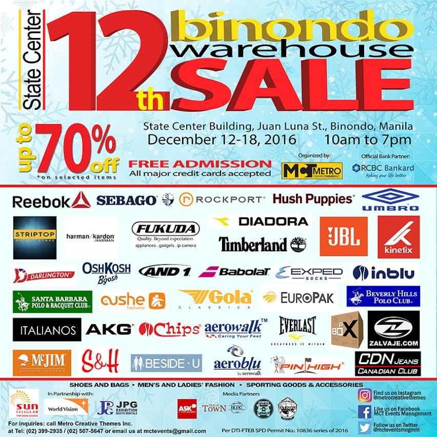 Manila shopper 12th binondo holiday warehouse sale dec 2016 for Christmas decs sale