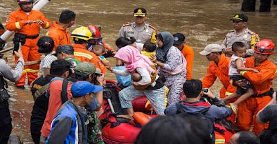 Data terakhir BNPB : Hari Ini Korban Banjir Jakarta Capai 7.788 Jiwa