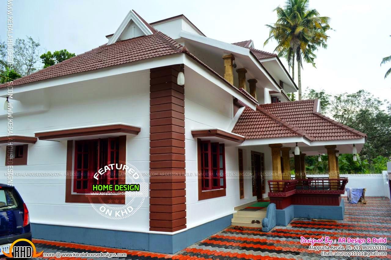 small house bricks kerala style modern house