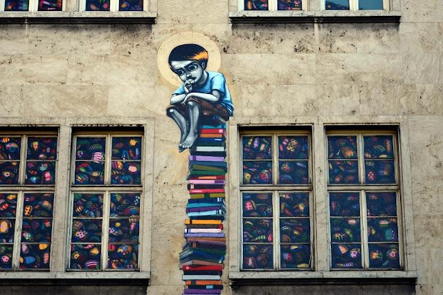 Street Art By Brazilian Artist Tinho On The Streets Of Frankfurt, Germany. details