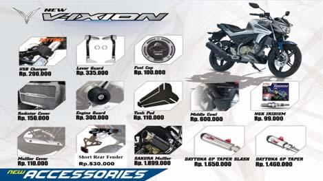 Daftar Harga Asesoris All New Yamaha Vixion