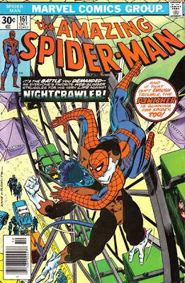 Amazing Spider-Man #161, Spidey fights Nightcrawler from the X-Men, on a New York amusement park ferris wheel