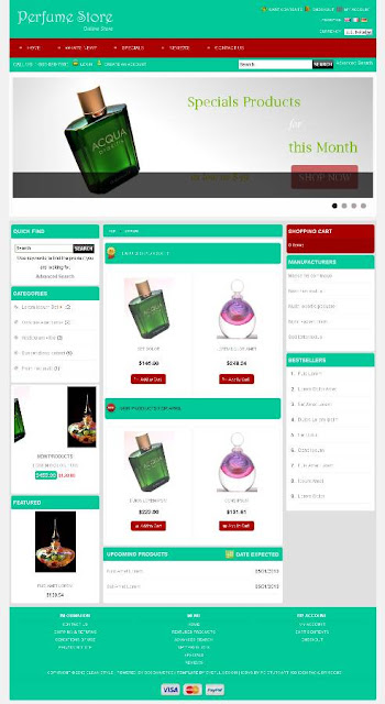 Free osCommerce 2.3.3 Template for Perfume Store