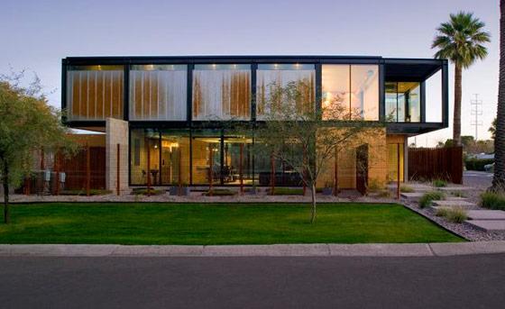 tampak rumah minimalis industrial modern