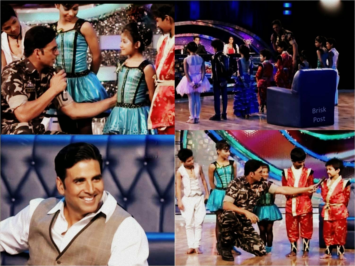Akshay taking class of DID Little Masters