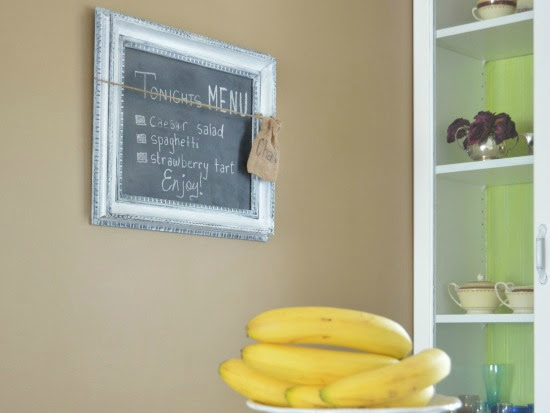 How To Turn Thrift Store Framed Art Into Chalkboards