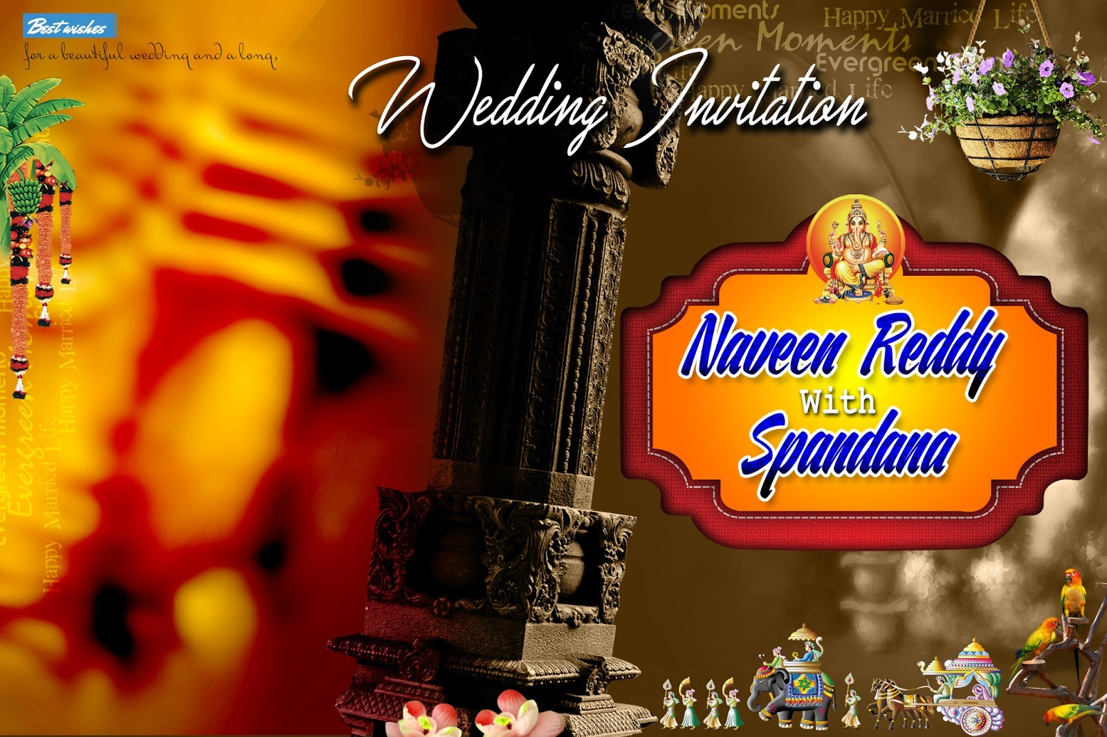 indian wedding flex banner psd vector template free download naveengfx indian wedding flex banner psd vector