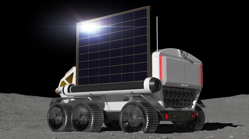 JAXA lunar rover by Toyota (solar panels)