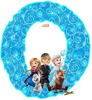 Alfabeto de Frozen Bebés o Baby Frozen.