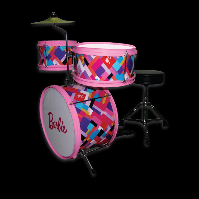 D&D Custom Guitars Barbie DBA Drumset Printed Checkered ranneveryday