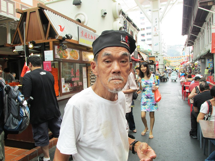 Old man, Chinatown Singapore - a face with such character