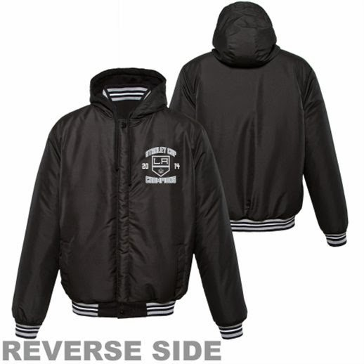 Big and Tall Los Angeles Kings Stanley Cup jacket, la kings reversible stanley cup champs jacket