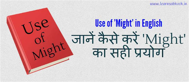 Use of 'Might' in English