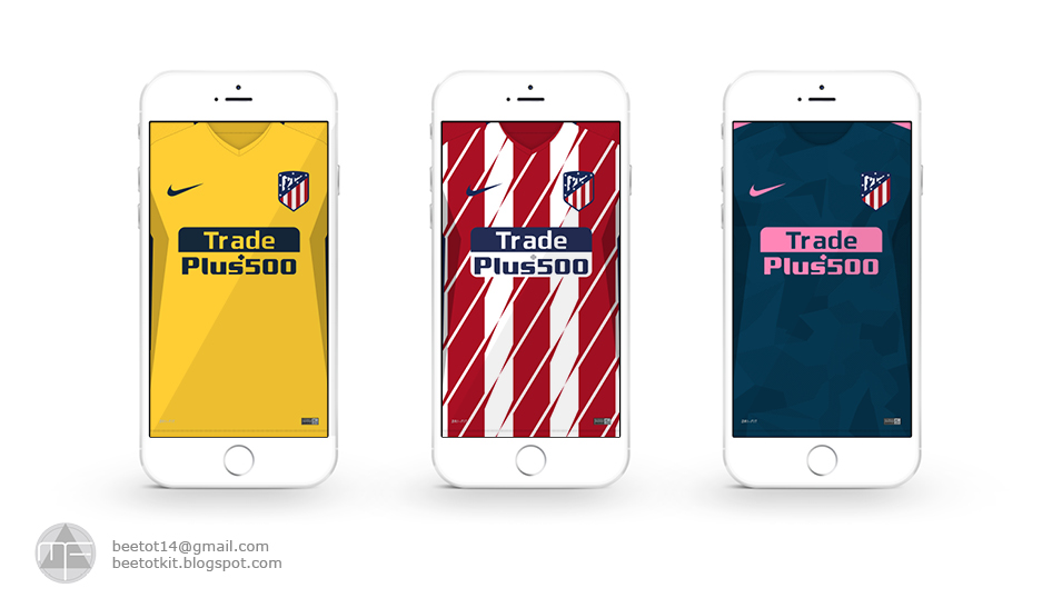 Beetot Kit: Atletico Madrid Kit 1718 Iphone 7 Wallpaper