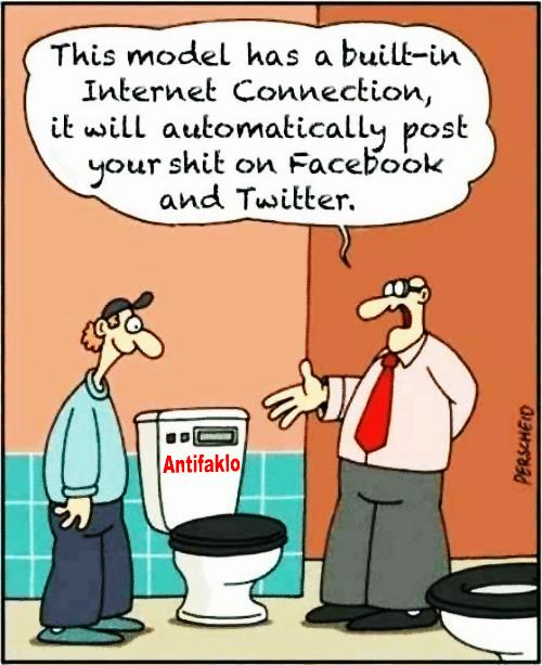 Antifaklo scheisst direkt auf twitter und facebook