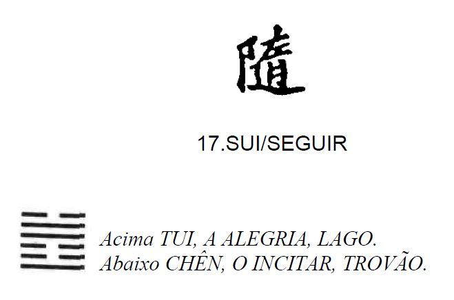 Imagem de 'Sui / Seguir' - hexagrama número 17, de 64 que fazem parte do I Ching, o Livro das Mutações