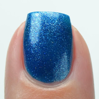 blue metallic nail polish