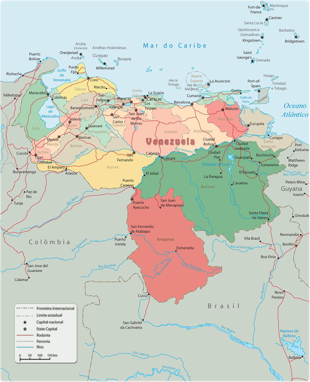 Mapas Geográficos de Venezuela