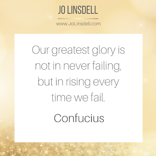 Our greatest glory is not in never failing, but in rising every time we fail.– Confucius #quote #QOTD