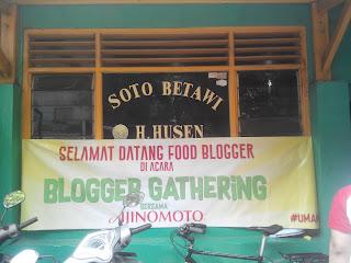 Tampak Depan Soto Betawi H. Husen