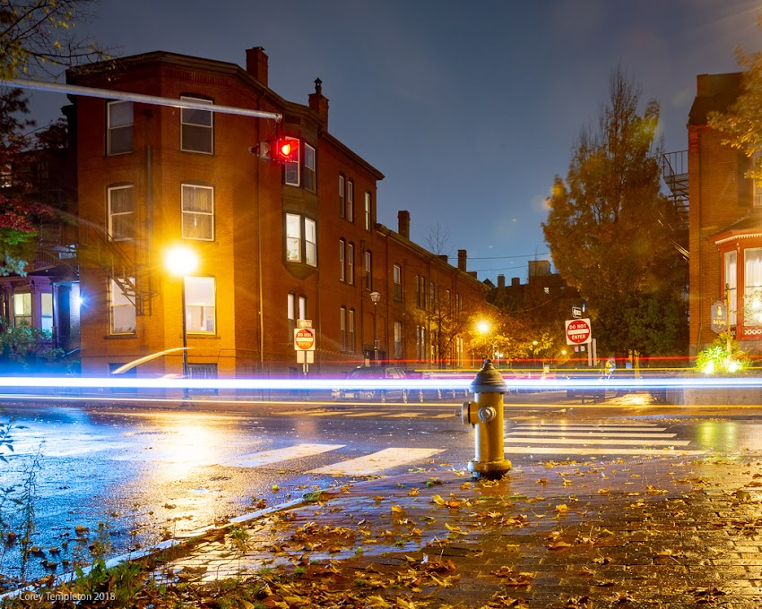 Portland, Maine USA October 2018 photo by Corey Templeton. The fire hydrant at the corner of Park and Spring Streets.