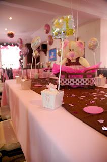 Centros de mesa baby shower