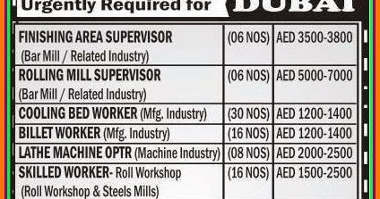 Urgent Job Requirements for Dubai - Gulf Jobs for Malayalees