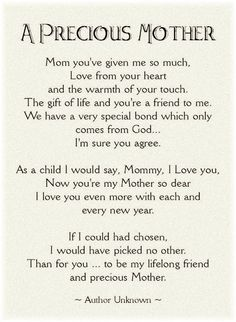 Thank you mom for giving birth to me the wonderful child poems quotes images