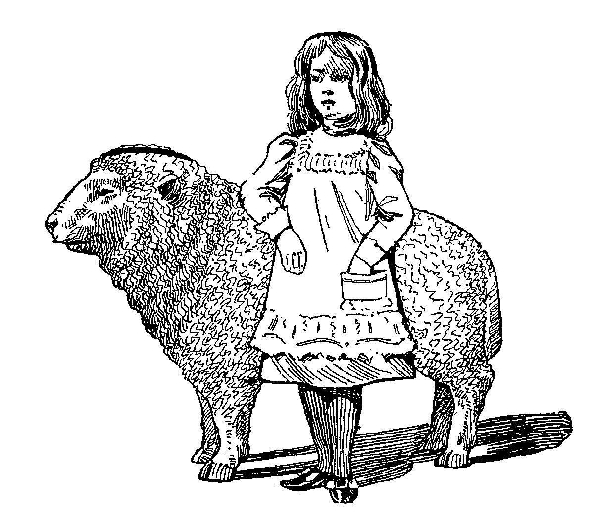 Digital Stamp Design Mary Had A Little Lamb Digital