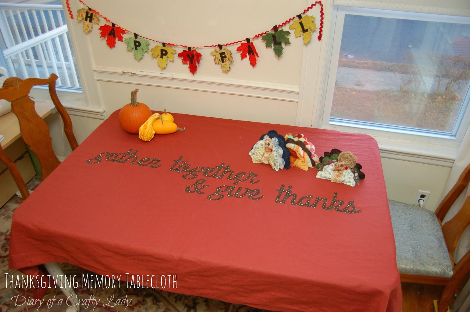 Diary Of A Crafty Lady Thanksgiving Memory Tablecloth - Thanksgiving-table-cloth