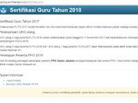 Informasi Sertifikasi Guru Tahun 2018 Dan Penetapan Peserta PPG Dalam Jabatan Tahun 2018