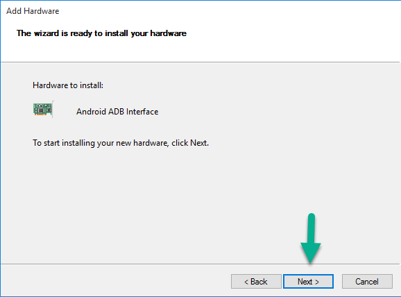 Install Android ADB Interface