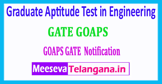 GATE 2018 Graduate Aptitude Test in Engineering Login Registration Exam Dates Notification