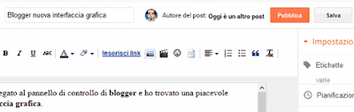 Autore post blogger