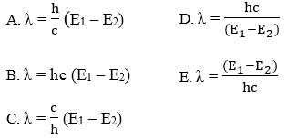 persamaan panjang gelombang