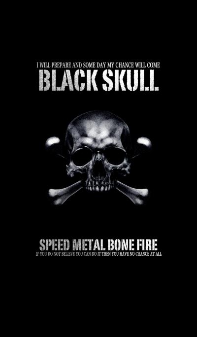Speed Metal Bone Fire Black Skull