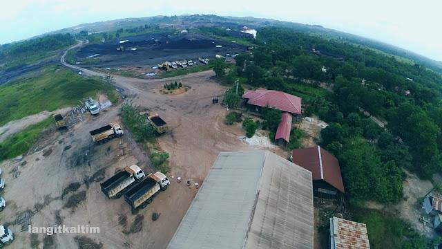 Foto Udara Tambang Batubara Provinsi Kalimatan Timur