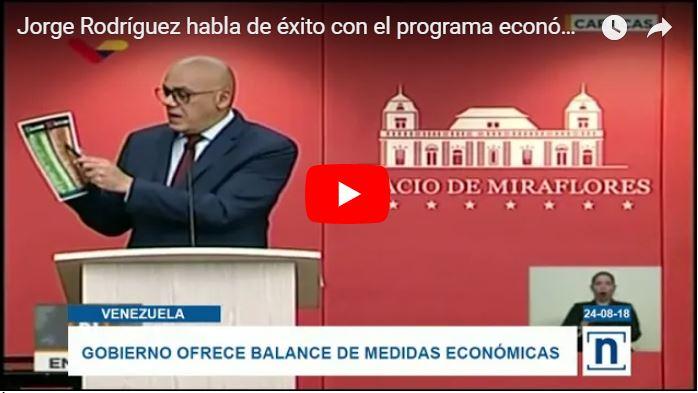 Jorge Rodríguez dice que se pueden comprar 25 productos con el salario mínimo