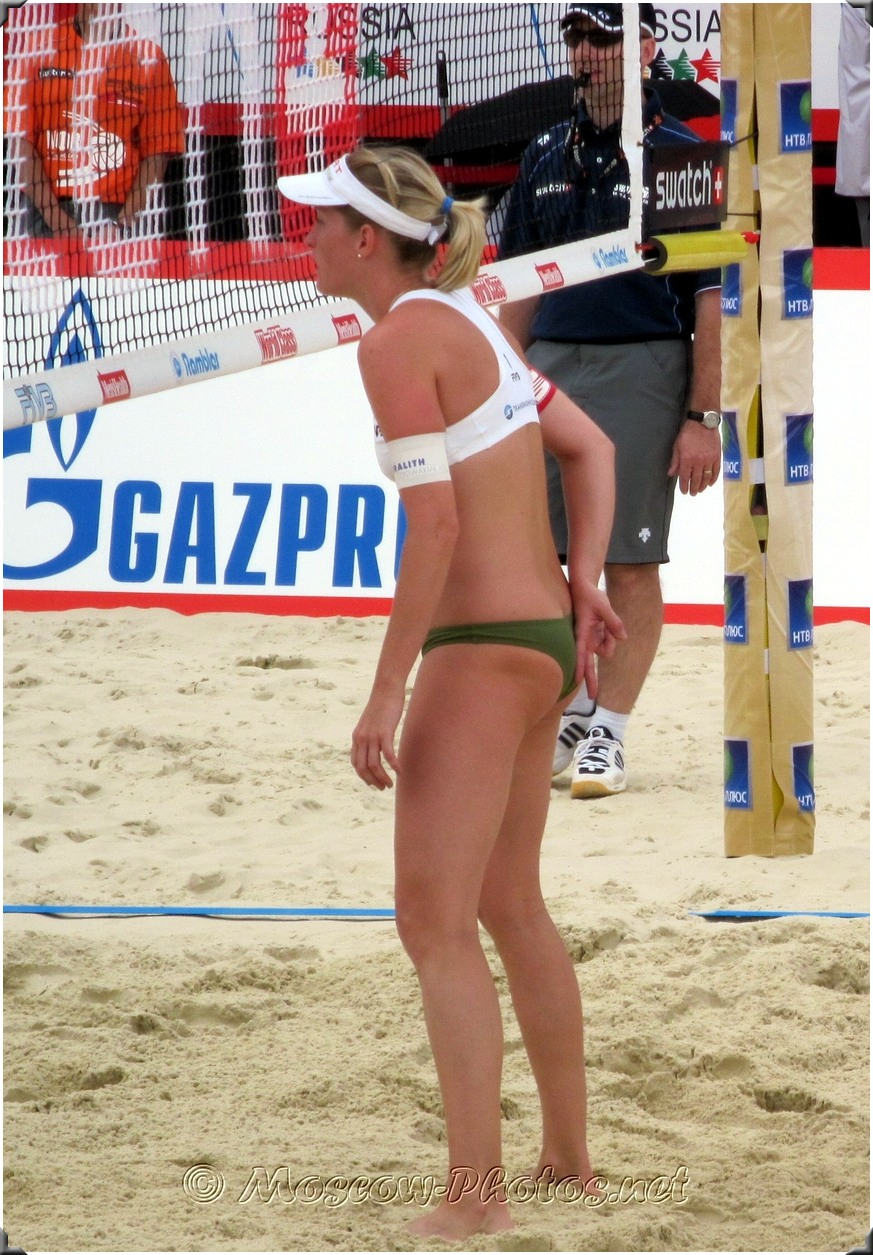 Beach Volleyball Cheeky Hand Signal