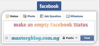 Empty Facebook Status