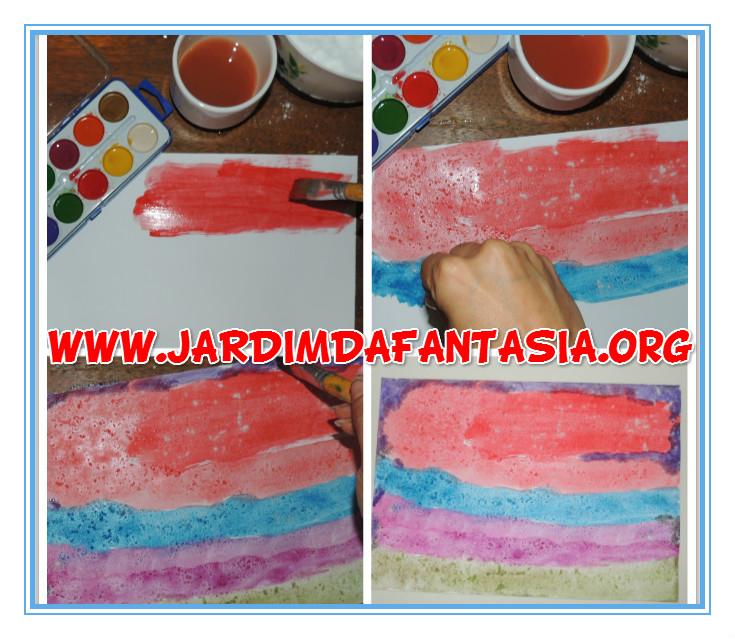 Super Atividades Jardim da Fantasia: Pintura Salpicada Arco-íris Artes  RX68